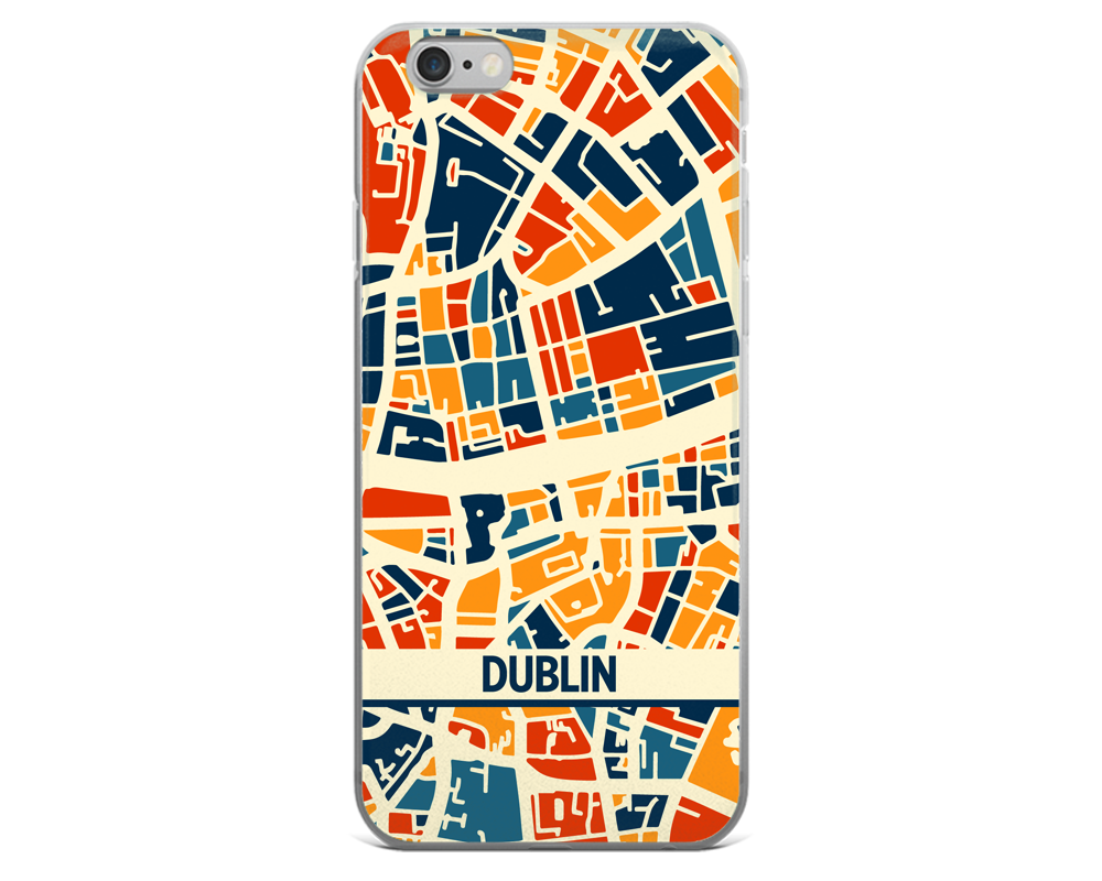 Dublin Map Phone Case - Dublin iPhone Case - iPhone 6 Case - iPhone 6 Plus Case