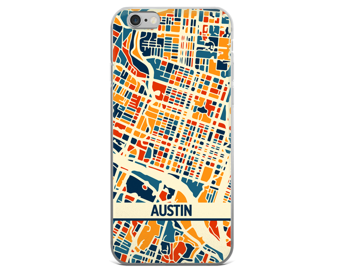 Austin Map Phone Case - Austin iPhone Case - iPhone 6 Case - iPhone 6 Plus Case