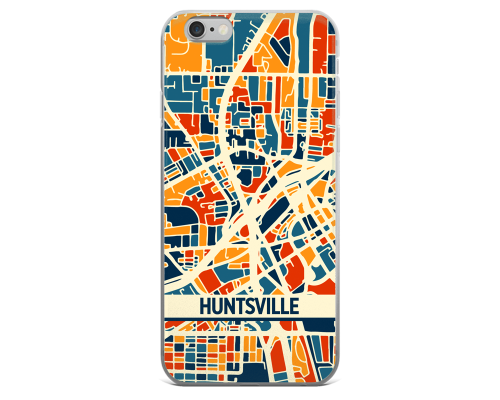Huntsville Map Phone Case - Huntsville iPhone Case - iPhone 6 Case - iPhone 6 Plus Case