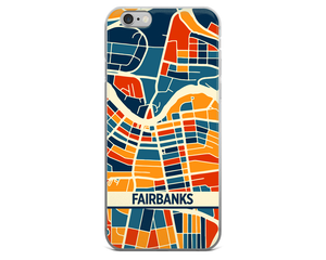 Fairbanks Map Phone Case - Fairbanks iPhone Case - iPhone 6 Case - iPhone 6 Plus Case