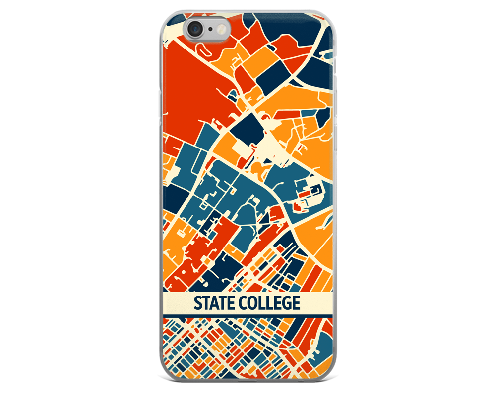 State College Map Phone Case - State College iPhone Case - iPhone 6 Case - iPhone 6 Plus Case