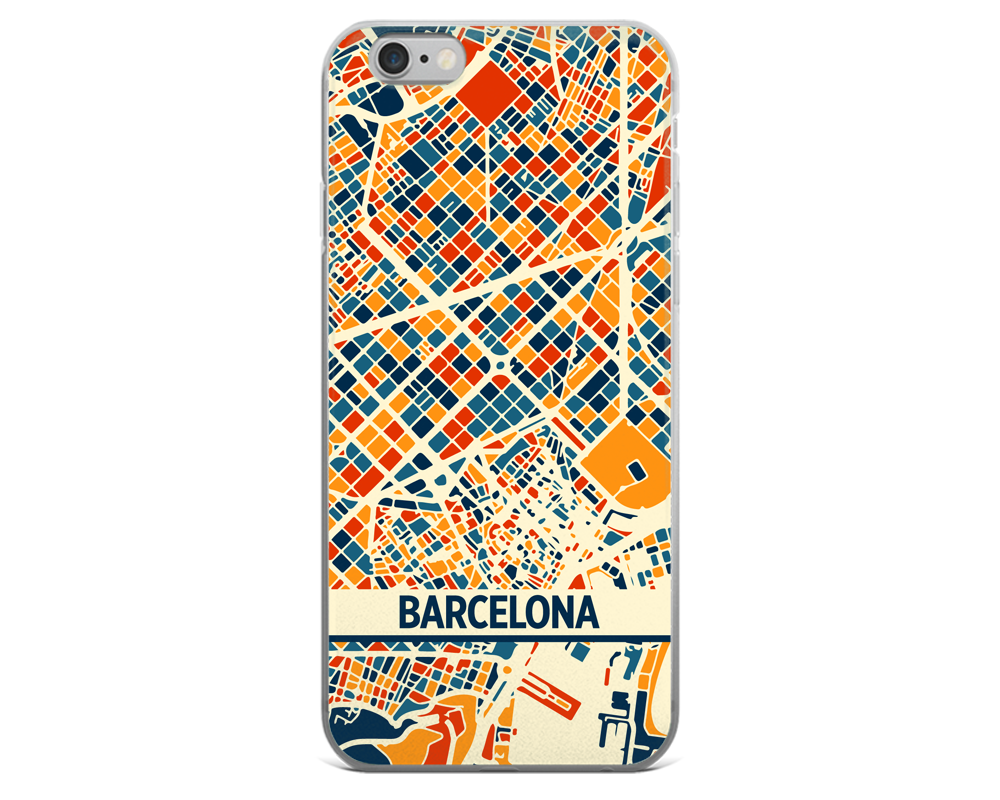 Barcelona Map Phone Case - Barcelona iPhone Case - iPhone 6 Case - iPhone 6 Plus Case
