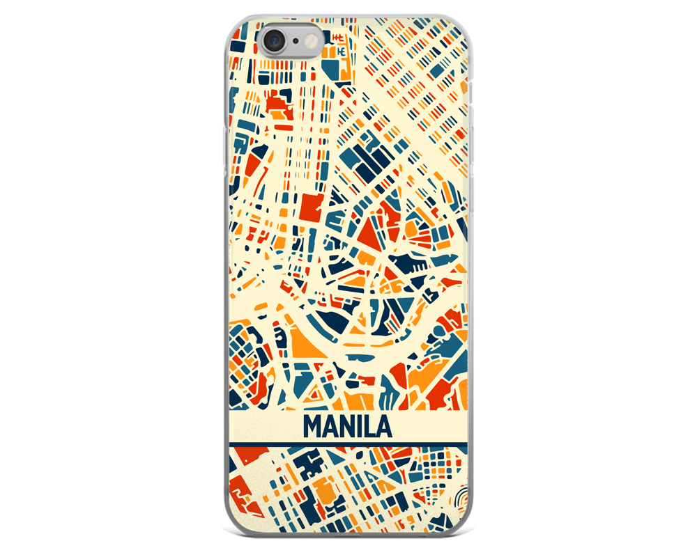 Manila Map Phone Case - Manila iPhone Case - iPhone 6 Case - iPhone 6 Plus Case