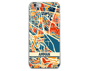 Amman Map Phone Case - Amman iPhone Case - iPhone 6 Case - iPhone 6 Plus Case