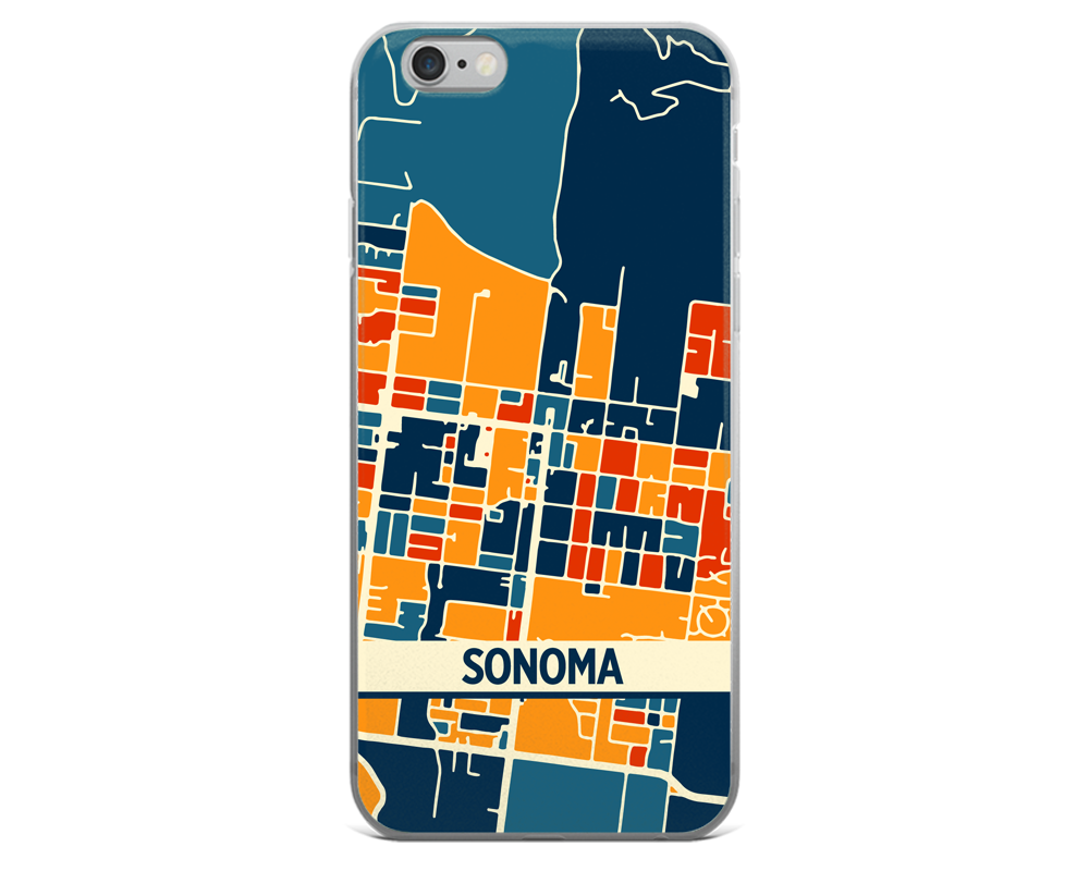 Sonoma Map Phone Case - Sonoma iPhone Case - iPhone 6 Case - iPhone 6 Plus Case