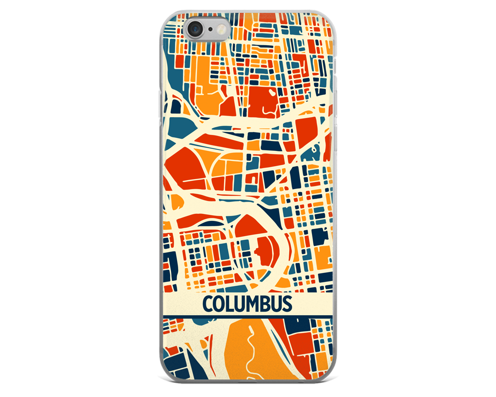 Columbus Map Phone Case - Columbus iPhone Case - iPhone 6 Case - iPhone 6 Plus Case