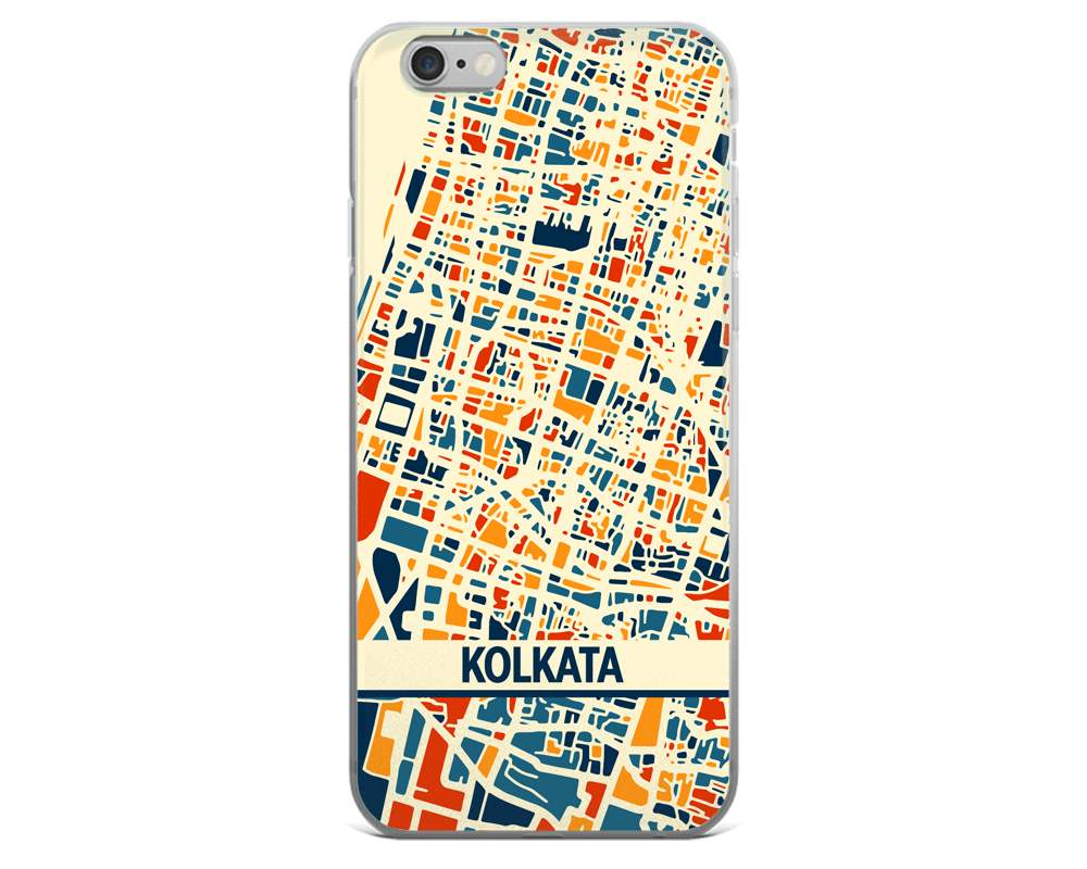 Kolkata Map Phone Case - Kolkata iPhone Case - iPhone 6 Case - iPhone 6 Plus Case