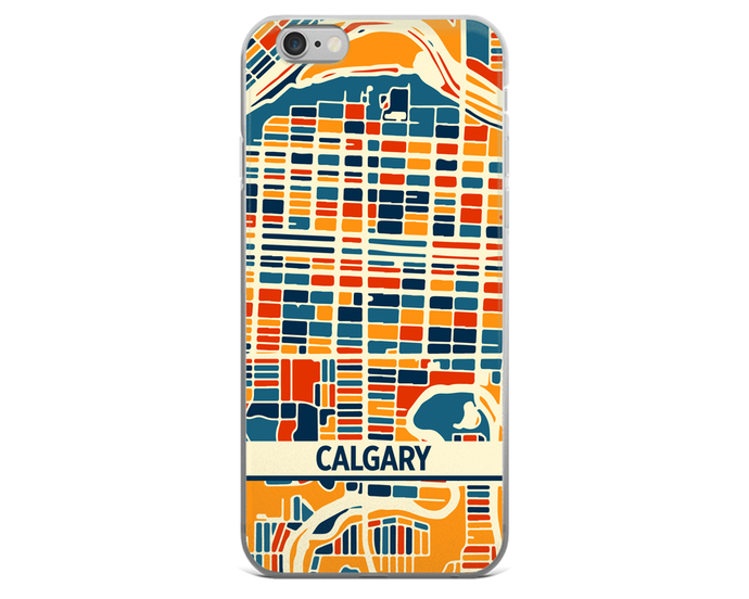 Calgary Map Phone Case - Calgary iPhone Case - iPhone 6 Case - iPhone 6 Plus Case