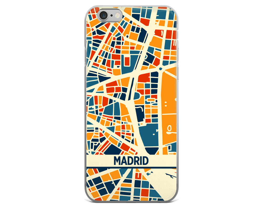 Madrid Map Phone Case - Madrid iPhone Case - iPhone 6 Case - iPhone 6 Plus Case