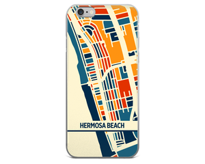 Hermosa Beach Map Phone Case - Hermosa Beach iPhone Case - iPhone 6 Case - iPhone 6 Plus Case