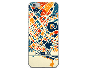 Honolulu Map Phone Case - Honolulu iPhone Case - iPhone 6 Case - iPhone 6 Plus Case