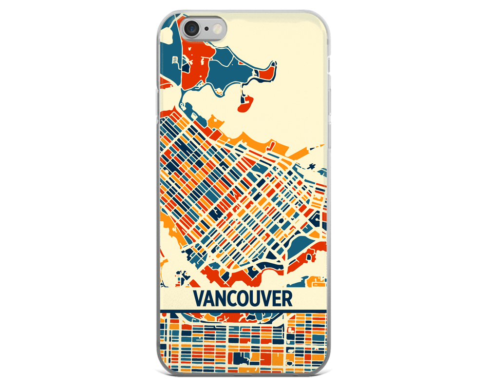 Vancouver Map Phone Case - Vancouver iPhone Case - iPhone 6 Case - iPhone 6 Plus Case