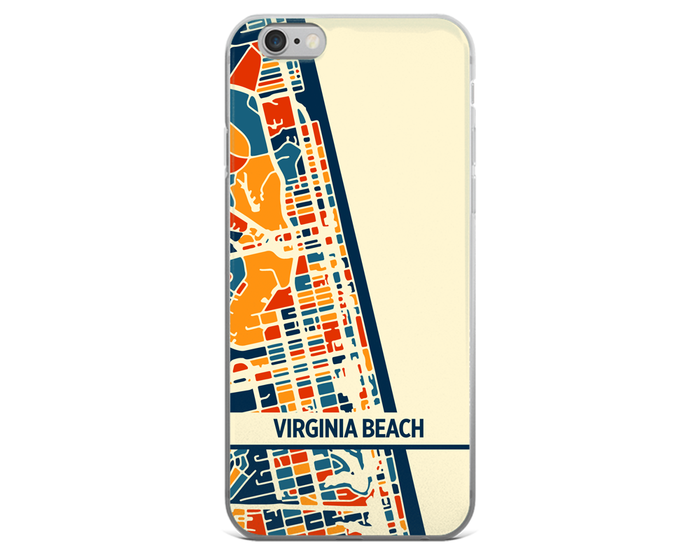 Virginia Beach Map Phone Case - Virginia Beach iPhone Case - iPhone 6 Case - iPhone 6 Plus Case