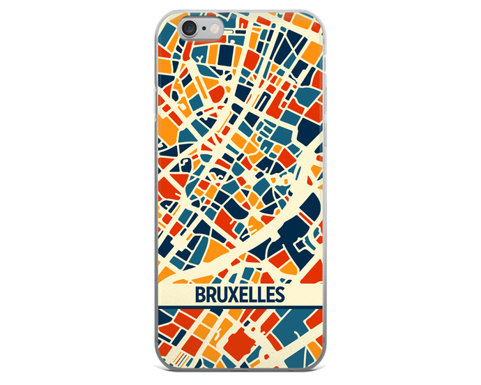 Brussels Map Phone Case - Brussels iPhone Case - iPhone 6 Case - iPhone 6 Plus Case