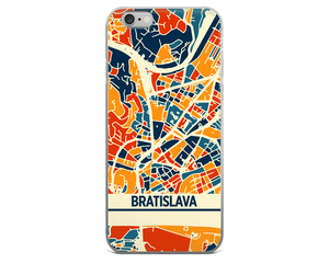 Bratislava Map Phone Case - Bratislava iPhone Case - iPhone 6 Case - iPhone 6 Plus Case