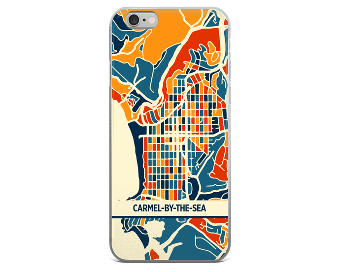 Carmel-By-The-Sea Map Phone Case - Carmel-By-The-Sea iPhone Case - iPhone 6 Case - iPhone 6 Plus Case
