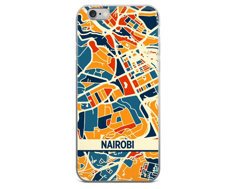 Nairobi Map Phone Case - Nairobi iPhone Case - iPhone 6 Case - iPhone 6 Plus Case