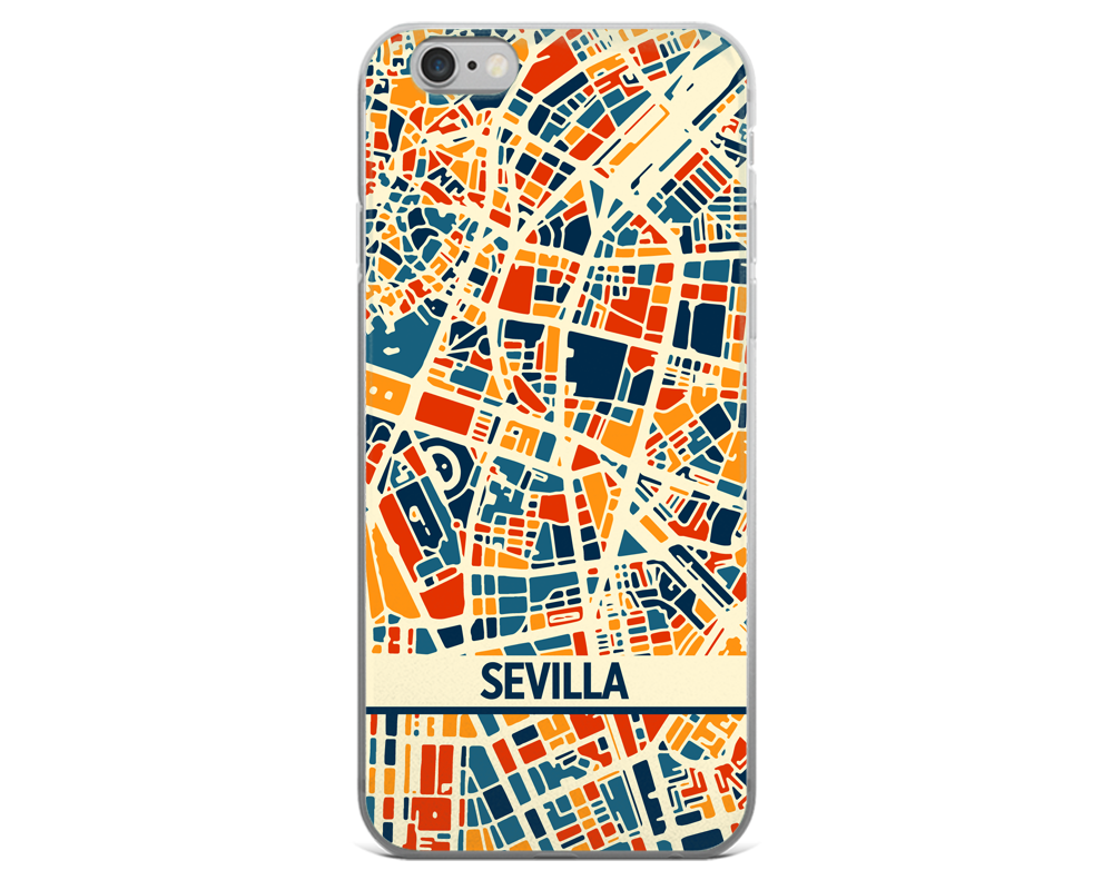 Sevilla Map Phone Case - Sevilla iPhone Case - iPhone 6 Case - iPhone 6 Plus Case