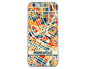 Minneapolis Map Phone Case - Minneapolis iPhone Case - iPhone 6 Case - iPhone 6 Plus Case