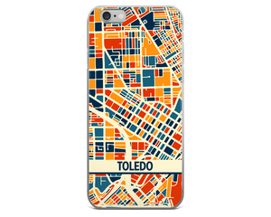 Toledo Map Phone Case - Toledo iPhone Case - iPhone 6 Case - iPhone 6 Plus Case