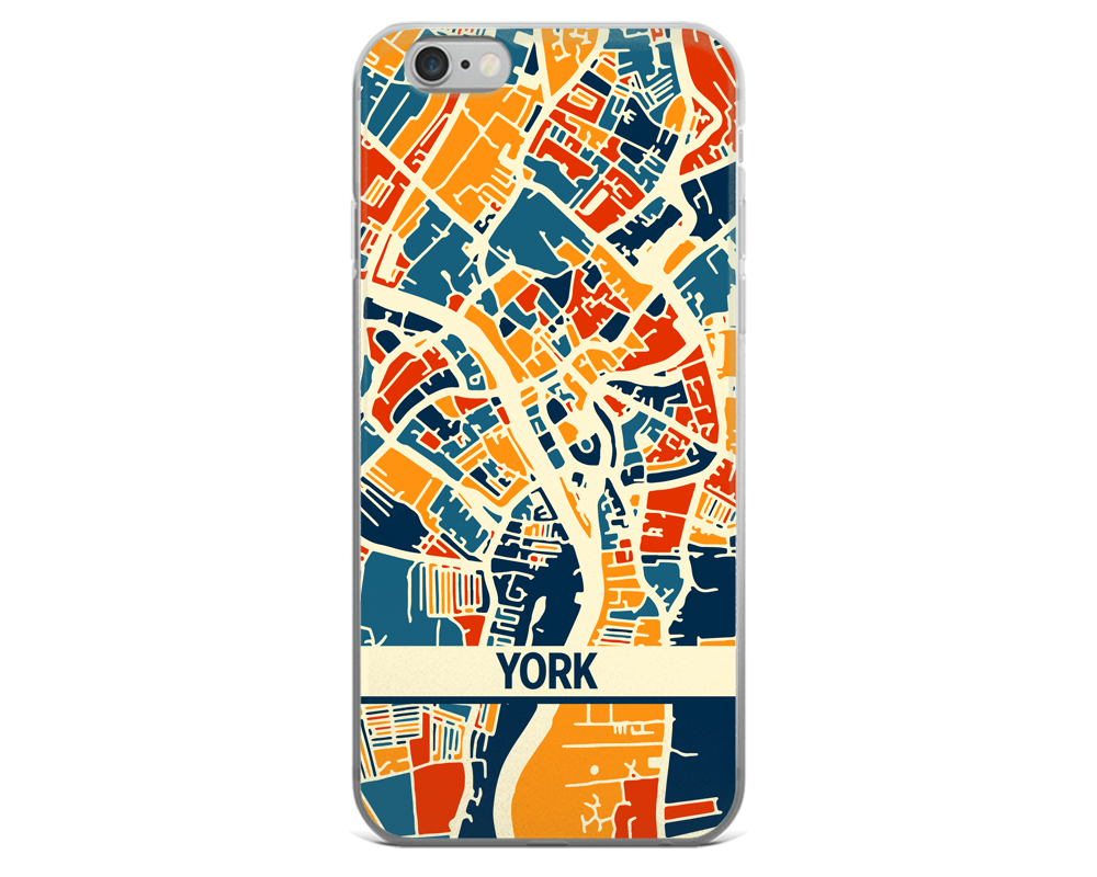 York Map Phone Case - York iPhone Case - iPhone 6 Case - iPhone 6 Plus Case