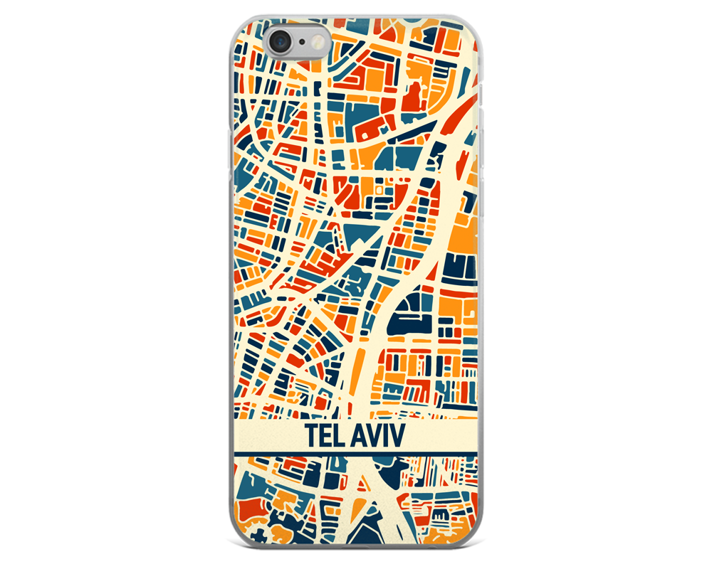 Tel Aviv Map Phone Case - Tel Aviv iPhone Case - iPhone 6 Case - iPhone 6 Plus Case