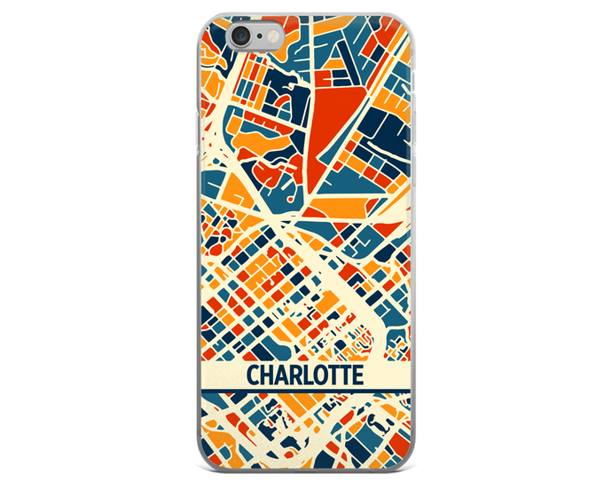 Charlotte Map Phone Case - Charlotte iPhone Case - iPhone 6 Case - iPhone 6 Plus Case