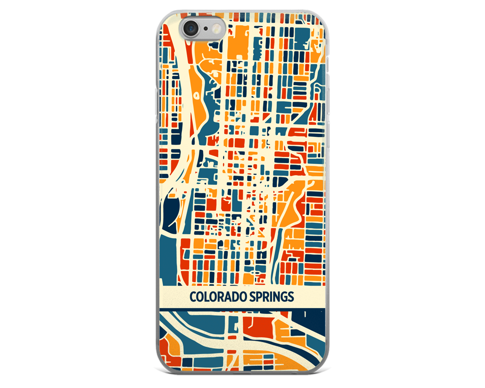 Colorado Springs Map Phone Case - Colorado Springs iPhone Case - iPhone 6 Case - iPhone 6 Plus Case