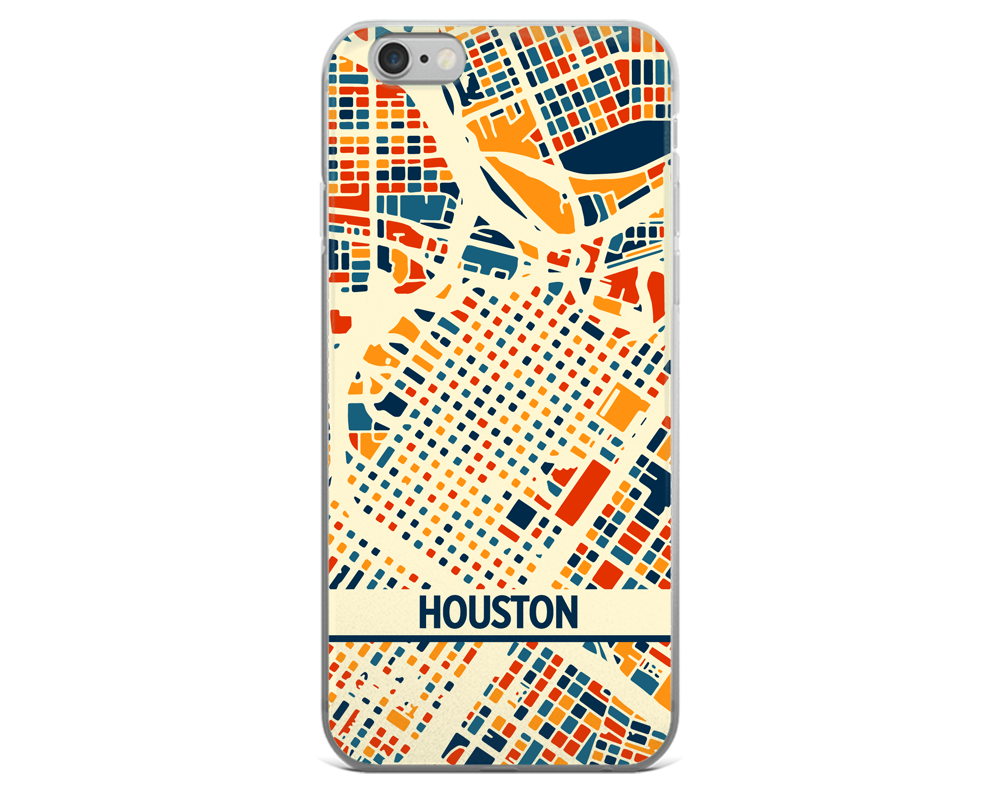 Houston Map Phone Case - Houston iPhone Case - iPhone 6 Case - iPhone 6 Plus Case