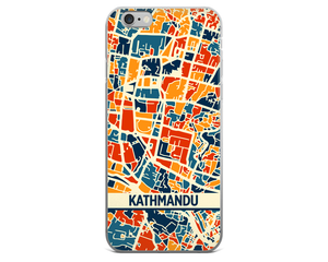 Kathmandu Map Phone Case - Kathmandu iPhone Case - iPhone 6 Case - iPhone 6 Plus Case