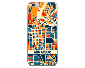 Ann Arbor Map Phone Case - Ann Arbor iPhone Case - iPhone 6 Case - iPhone 6 Plus Case