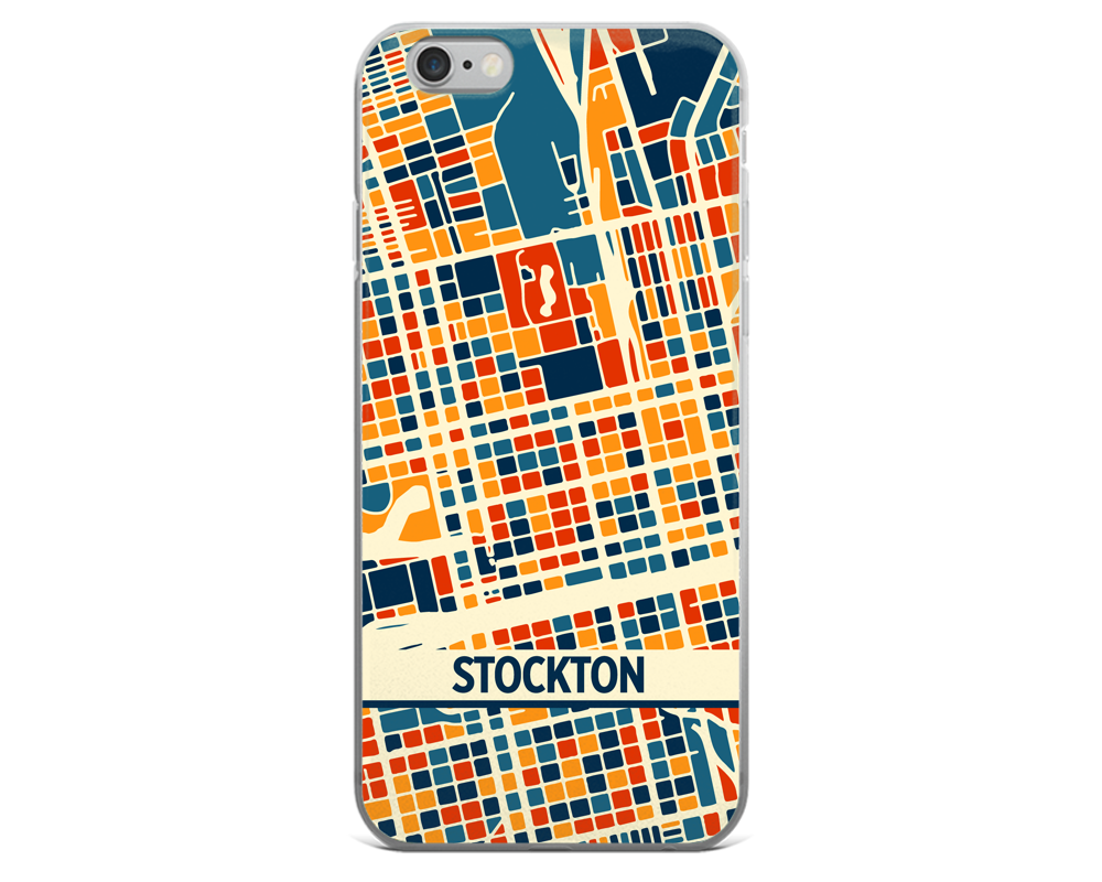 Stockton Map Phone Case - Stockton iPhone Case - iPhone 6 Case - iPhone 6 Plus Case
