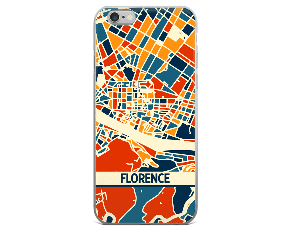 Florence Map Phone Case - Florence iPhone Case - iPhone 6 Case - iPhone 6 Plus Case