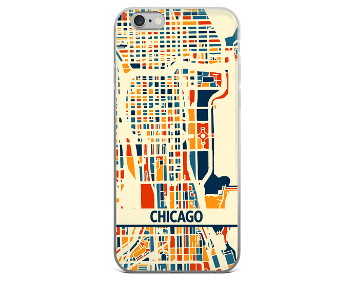 Chicago Map Phone Case - Chicago iPhone Case - iPhone 6 Case - iPhone 6 Plus Case