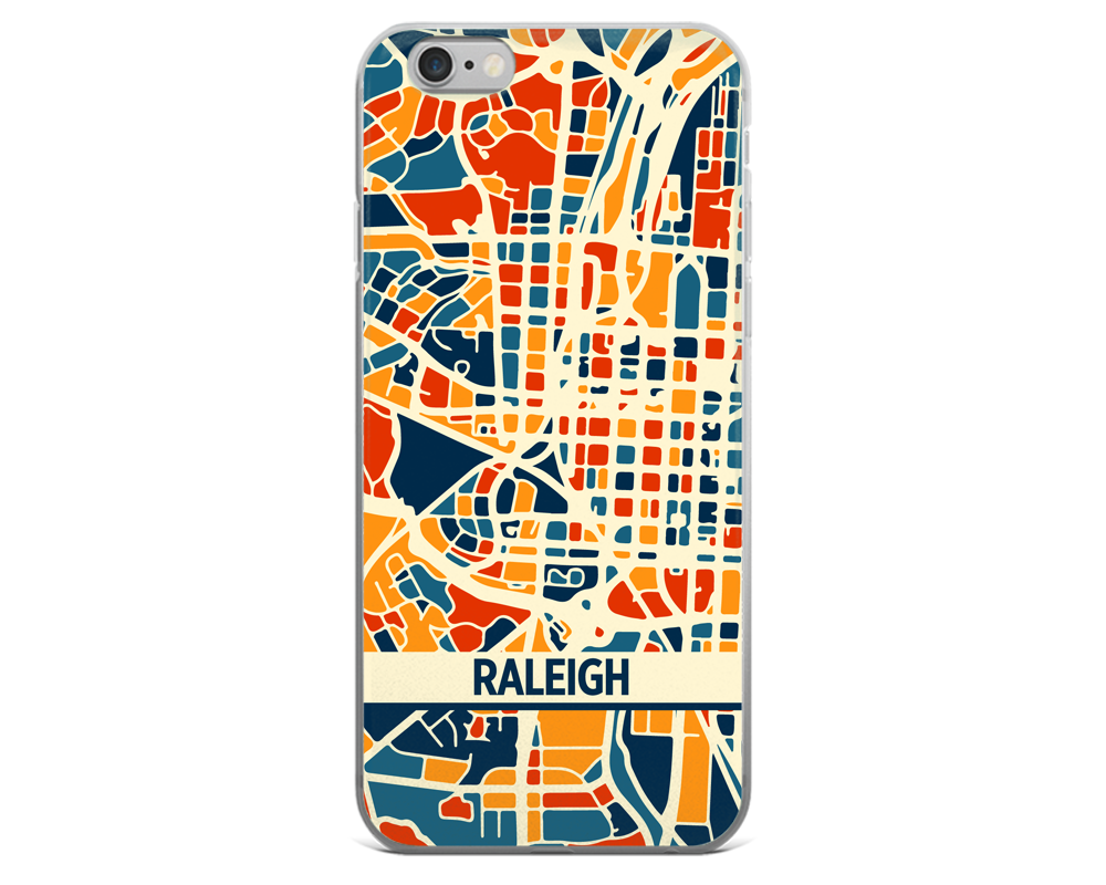Raleigh Map Phone Case - Raleigh iPhone Case - iPhone 6 Case - iPhone 6 Plus Case