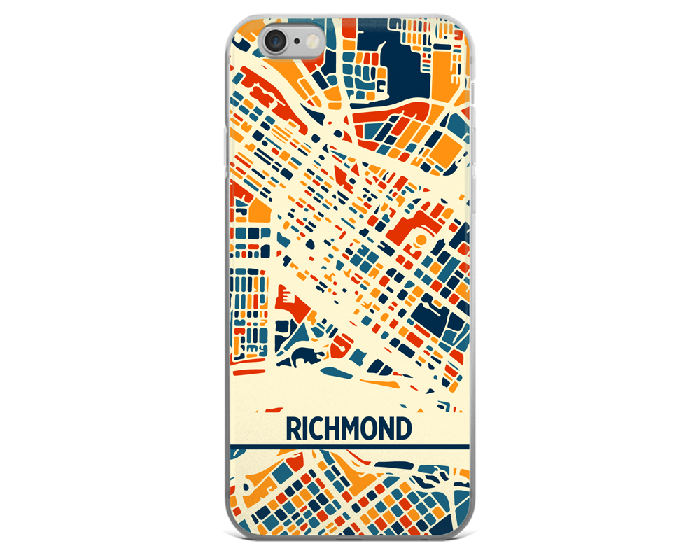 Richmond Map Phone Case - Richmond iPhone Case - iPhone 6 Case - iPhone 6 Plus Case