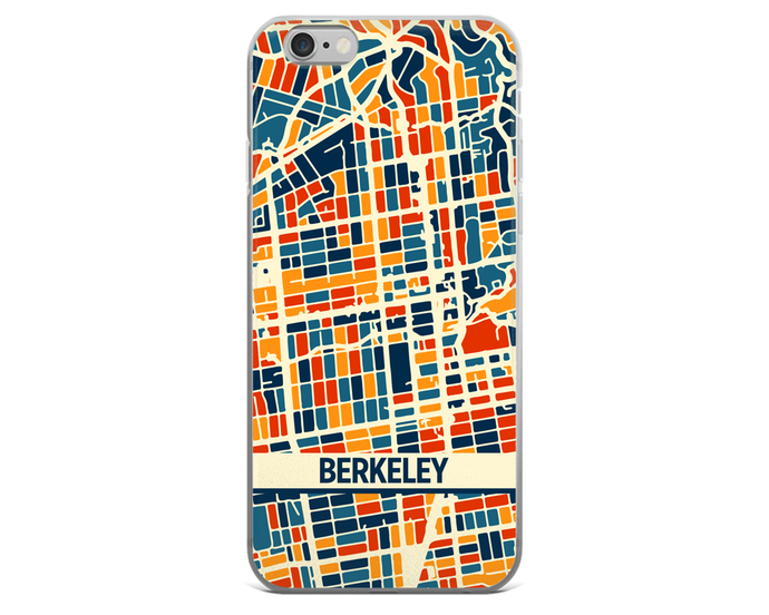 Berkeley Map Phone Case - Berkeley iPhone Case - iPhone 6 Case - iPhone 6 Plus Case