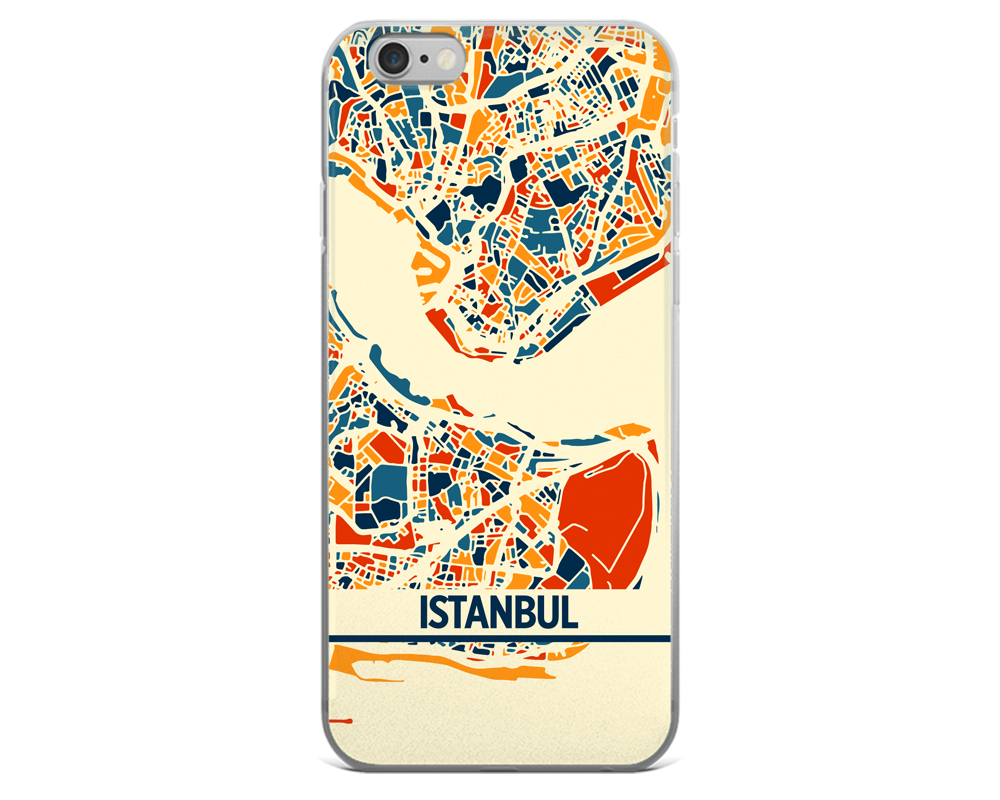 Istanbul Map Phone Case - Istanbul iPhone Case - iPhone 6 Case - iPhone 6 Plus Case