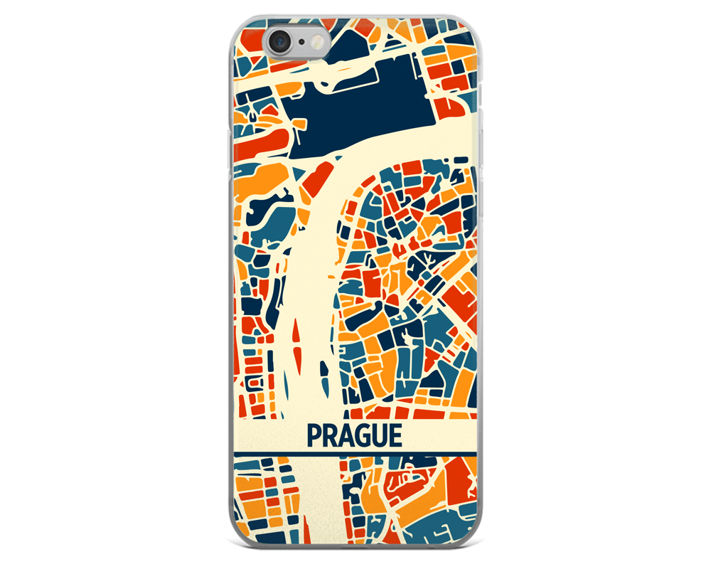 Prague Map Phone Case - Prague iPhone Case - iPhone 6 Case - iPhone 6 Plus Case