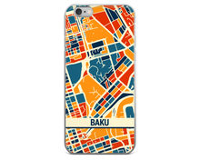 Baku Map Phone Case - Baku iPhone Case - iPhone 6 Case - iPhone 6 Plus Case