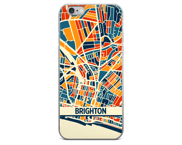 Brighton Map Phone Case - Brighton iPhone Case - iPhone 6 Case - iPhone 6 Plus Case