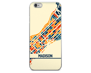 Madison Map Phone Case - Madison iPhone Case - iPhone 6 Case - iPhone 6 Plus Case