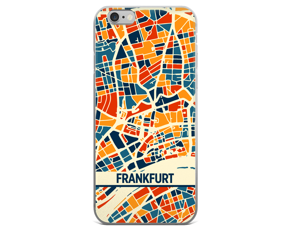 Frankfurt Map Phone Case - Frankfurt iPhone Case - iPhone 6 Case - iPhone 6 Plus Case