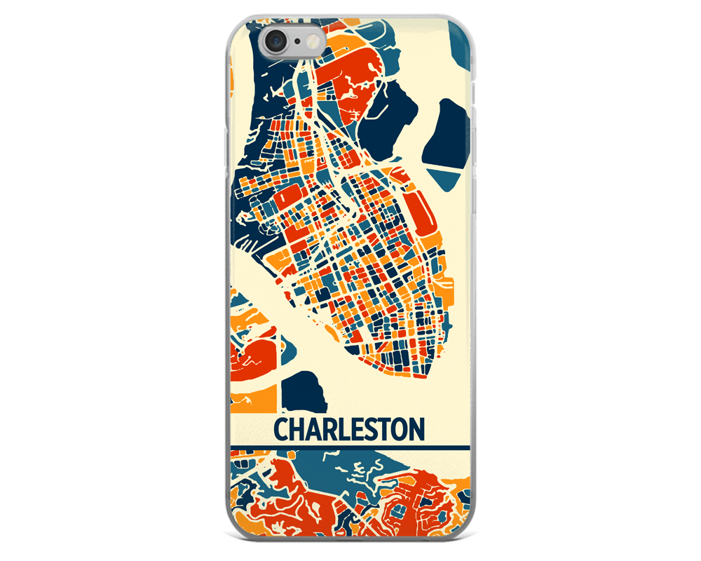 Charleston Map Phone Case - Charleston iPhone Case - iPhone 6 Case - iPhone 6 Plus Case