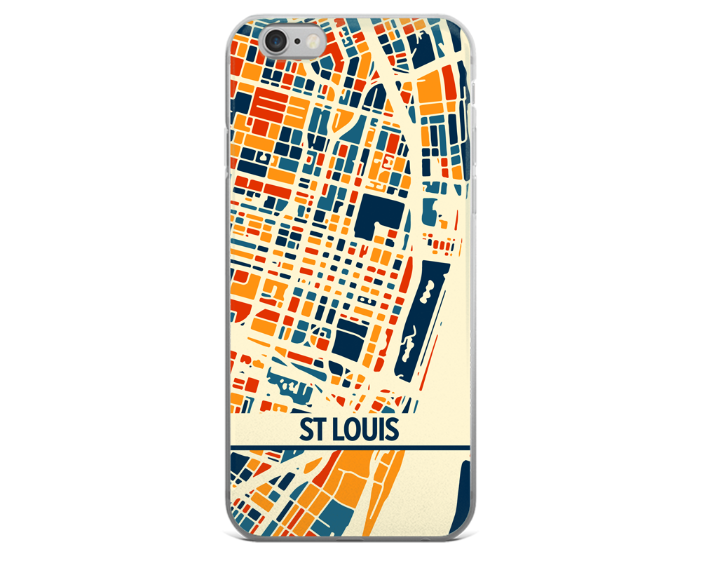 St Louis Map Phone Case - St Louis iPhone Case - iPhone 6 Case - iPhone 6 Plus Case