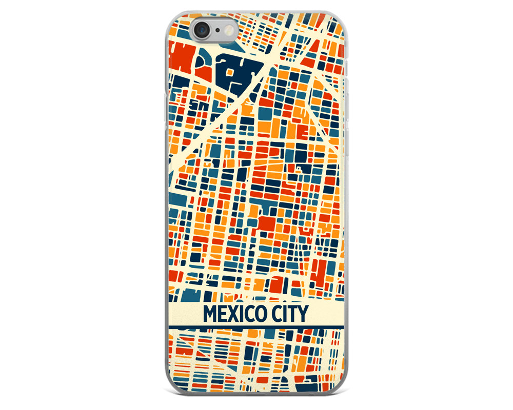 Mexico City Map Phone Case - Mexico City iPhone Case - iPhone 6 Case - iPhone 6 Plus Case