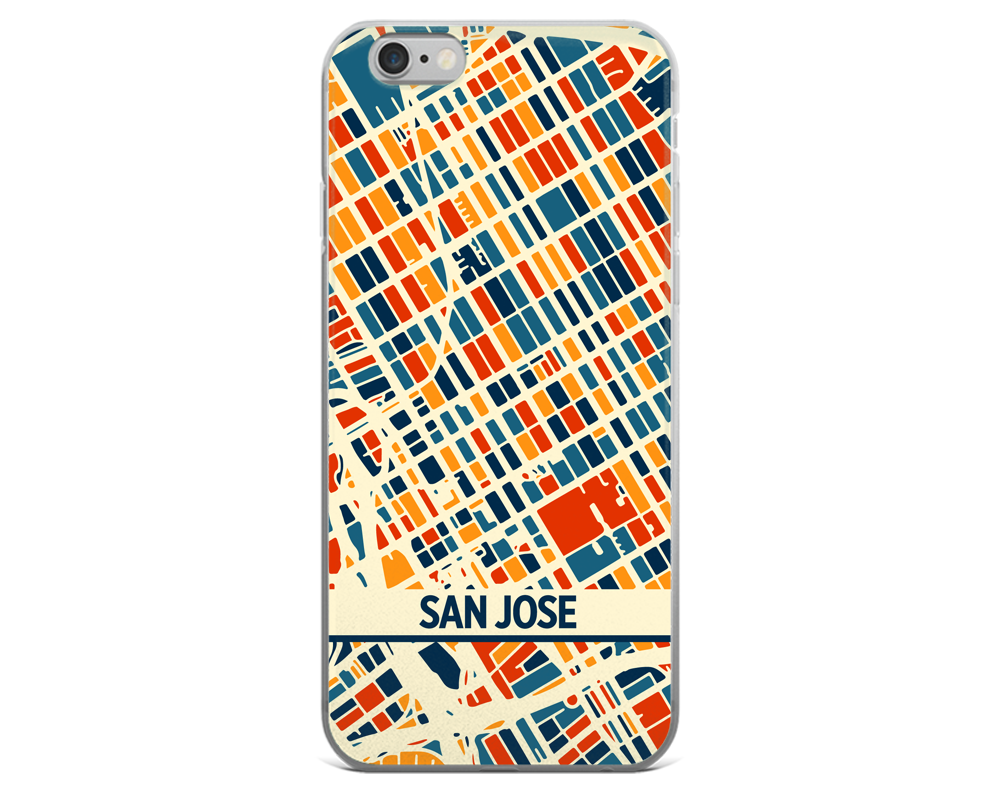San Jose Map Phone Case - San Jose iPhone Case - iPhone 6 Case - iPhone 6 Plus Case
