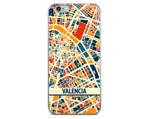 Valencia Map Phone Case - Valencia iPhone Case - iPhone 6 Case - iPhone 6 Plus Case