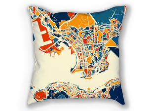 Hong Kong Map Pillow - China Map Pillow 18x18