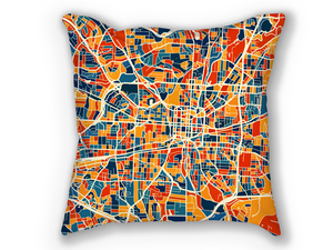 Greensboro Map Pillow - North Carolina Map Pillow 18x18